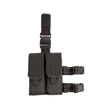 Drop Leg Platform with Attached M4-M16 Double Mag Pouch
