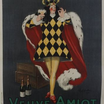 Leonetto CappielloCremant du Roi/Veuve Amiot, 1922. Color lithograph1922