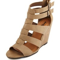 Woven T-Strap Wedge Sandal: Charlotte Russe
