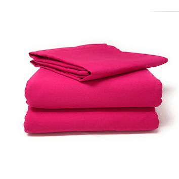 Tache 2-3 Piece Cotton Pink Superstar Bed sheet (Fitted Sheet) (BS3PC-PI)