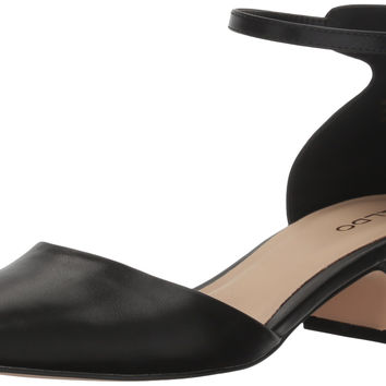 Aldo Women's Zusien Mary Jane Flat Black Synthetic 7 B(M) US '