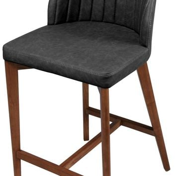 Tory Fabric Bar Stool Walnut Legs, Night Shade