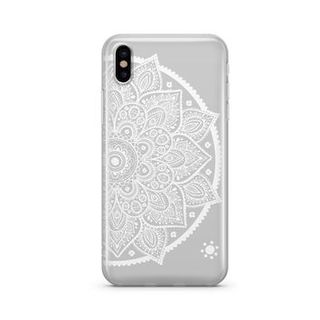 Henna Lotus Mandala - Clear TPU Case Cover Phone Case