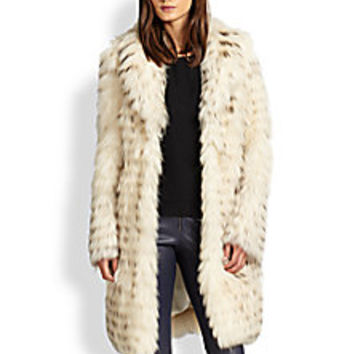 Alice + Olivia - Kayla Long Fur Coat - Saks Fifth Avenue Mobile