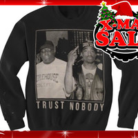 2pac Tupac Trust nobody Black Sweater Crewneck