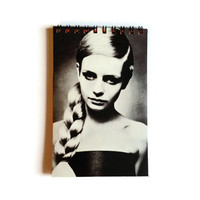 Handmade notebook - TWIGGY - rainbow pages - recycled