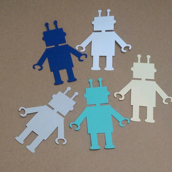 40 Robots (3 inches tall), Scrapbooking, Card Making, Create Banners, Enhance Gift Wrapping, Birthday Party Decoration - WBTYG