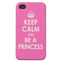 iPhone 4 Savvy Hot Pink Keep Calm & Be a Princess from Zazzle.com
