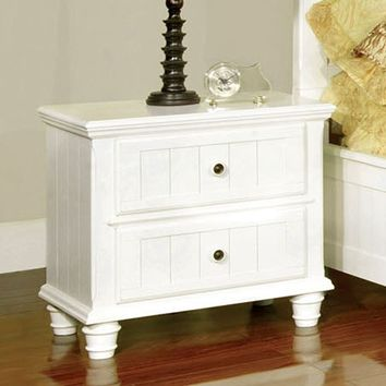 Furniture of America Brookhaven 2 Drawer Nightstand - White | www.hayneedle.com