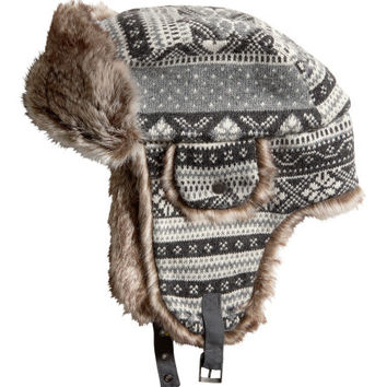 Hat with Earflaps - from H&M