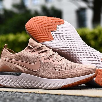 HCXX 19Aug 553 Nike Epic React Flyknit 2 Mesh Sneaker Breathable Casual Running Shoes Rose Gold