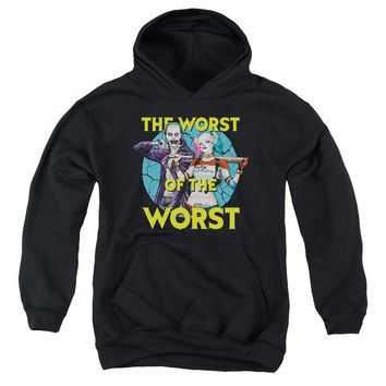 ac spbest Suicide Squad - Worst Pair Youth Pull Over Hoodie