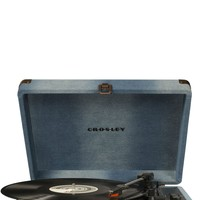 Crosley Cruiser Deluxe Retro Bluetooth Turntable - Denim