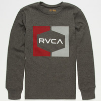 Rvca Invert Hex Boys Thermal Charcoal  In Sizes