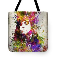 "Alice Cooper in Color Tote Bag for Sale by Aged Pixel (18"" x 18"")"