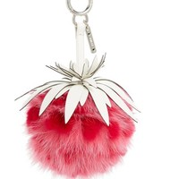 Fendi Strawberry Genuine Fox & Rabbit Fur Bag Charm | Nordstrom