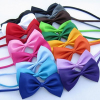 Kids Children Boys Toddler Infant Solid Bowtie Pre-Tied Wedding Bow Tie Necktie = 1958227588