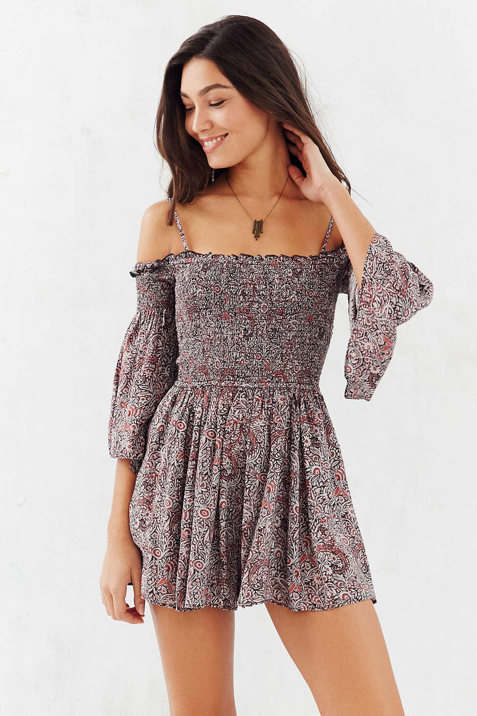 Ecote Lula Romper - Urban Outfitters from Urban Outfitters