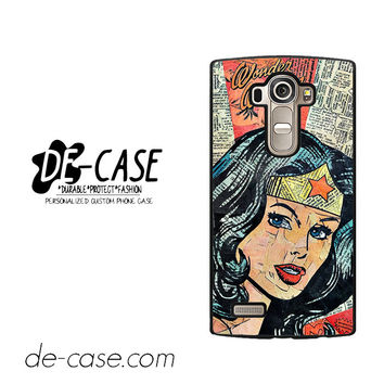 Wonder Woman Superhero Comic Book For LG G4 Case Phone Case Gift Present
