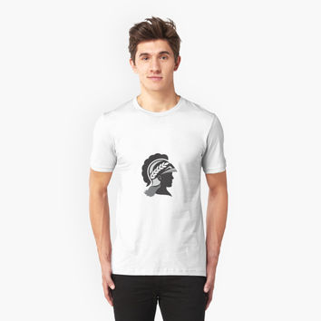 'Minerva Head Side Silhouette Retro' T-Shirt by patrimonio