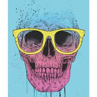 Skull With Sunglasses Poster - Spencer's
