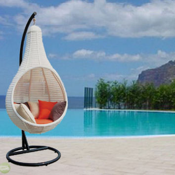 Outdoor Wicker Patio Furniture round hanging chair NEW! CW-7841