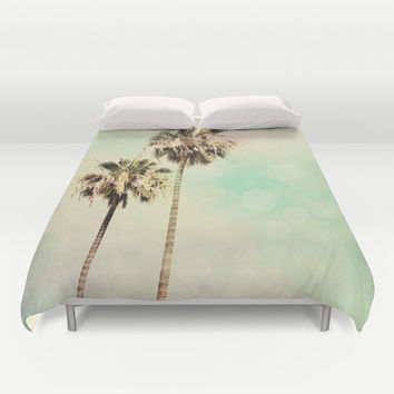 Art Duvet Cover Palm Trees 1 fine art photography home decor