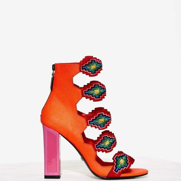 Kat Maconie Thea Aztec Leather Heel