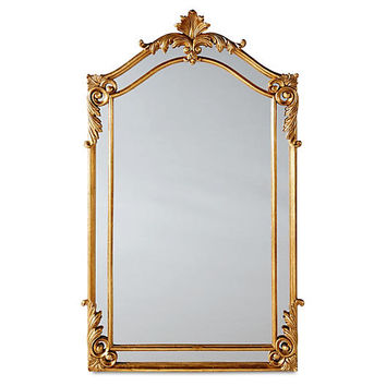 "Nancy 30""x48"" Oversize Mirror, Gold 