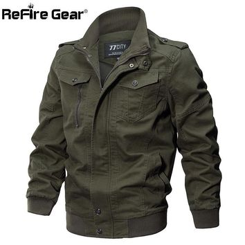 Trendy ReFire Gear Winter Autumn Military Style Tactical Jacket Men Cotton Army Pilot Coat Brand Clothing Casual Air Force Man Jackets AT_94_13