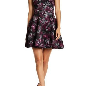 Love...Ady | Printed One Shoulder Fit N Flare Mini Dress | Nordstrom Rack