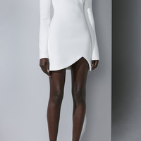 Silk Embroidered High Neck Cocktail Dress | Moda Operandi