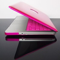 "TopCase Metallic Solid Hot Pink Hard Case Cover for Macbook Pro 13"" A1278 with Mouse Pad"