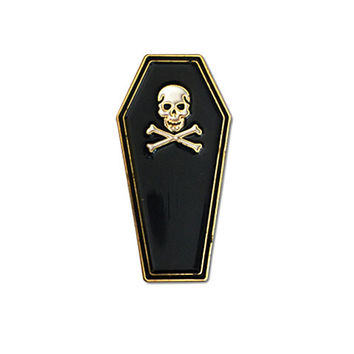 Coffin Lapel Pin