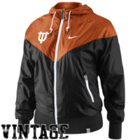 Nike Texas Longhorns Ladies Vault Full Zip Windrunner Jacket - Burnt Orange/Black