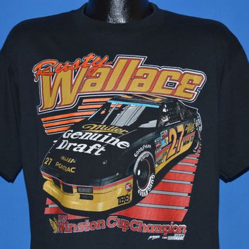80s Rusty Wallace #27 NASCAR t-shirt Large