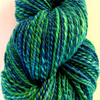 Pacific Kelp - Handspun and Hand Dyed Merino Wool 2 Ply Yarn - 215 yards - 3.7 oz