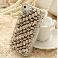 Crystal Stud iphone 4/4s case iphone 4/4s  by AppleCellphone
