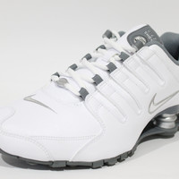 Nike Women's Shox NZ EU White/Silver/Grey Running Shoes 488312 113