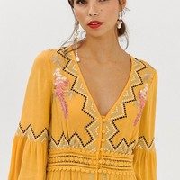 ASOS DESIGN lace insert maxi dress with embroidery | ASOS