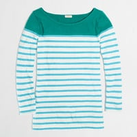 Factory colorblock stripe boatneck tee - long sleeve - FactoryWomen's Knits & Tees - J.Crew Factory