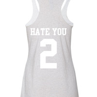 Hate you 2 Women's Triblend Tanktop