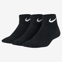 The Nike Performance Cushion Quarter Kids' Socks (3 Pair).