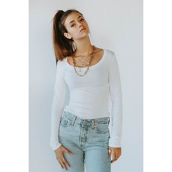 Sivanya White Long Sleeve Top