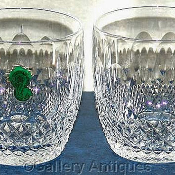 Pair of Waterford Crystal Colleen Pattern Crystal Cut Glass 9oz Old Fashioned Whisky Tumblers Signed and in Original Box (a) (ref: 3178)