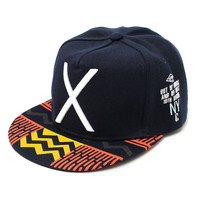 Men Women X Embroidery Snapback Adjustable Baseball Cap Hip-Hop Hats