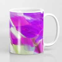 Meadow Flowers Abstract 2 Mug by Jen Warmuth Art And Design