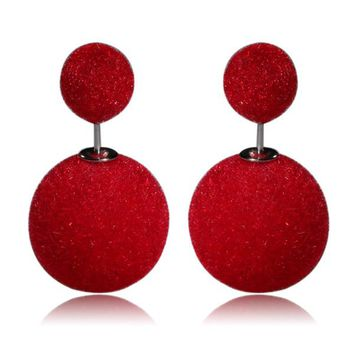 Gum Tee Mise en Style Tribal Earrings - Velvet Red