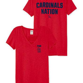St. Louis Cardinals V-Neck Tee - PINK - Victoria's Secret