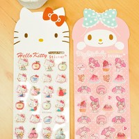 Hello Kitty My Melody Long Capsule Stickers Decoration Stickers Gift 2 Sheets